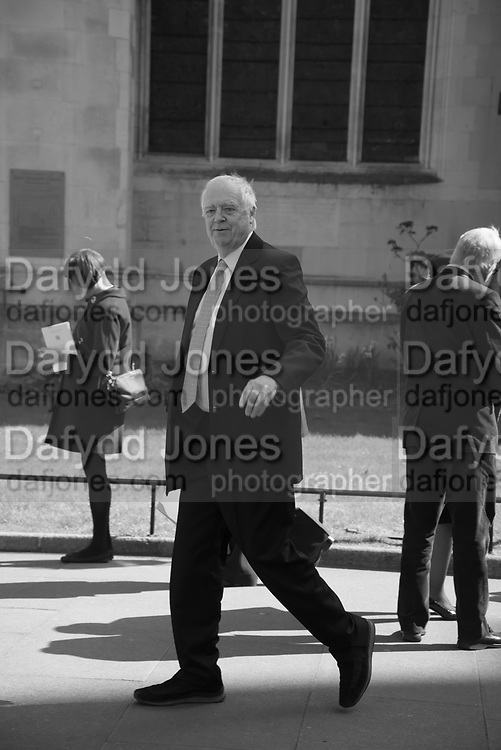 SIR TIM RICE, Service of thanksgiving for  Lord Snowdon, St. Margaret's Westminster. London. 7 April 2017