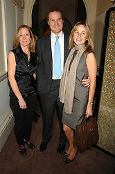 Left to right, LUCY FENWICK and VISCOUNT & VISCOUNTESS ROTHERMERE at a party to celebrate the publication of Top Tips For Girls by Kate Reardon held at Claridge's, Brook Street, London on 28th January 2008.<br />