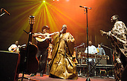 AfroCubism<br /> performing live at The Royal Albert Hall, London, Great Britain <br /> 27th June 2011<br /> <br /> Eliades Ochoa<br /> Kasse Mady Diabat&eacute; <br /> Bassekou Kouyate<br /> <br /> <br /> Photograph by Elliott Franks