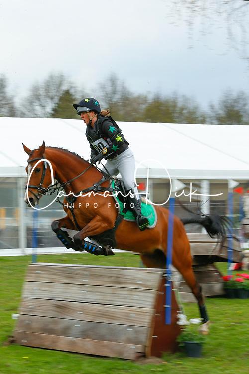 De Vriendt Amber, BEL, Lotus<br /> Nationale LRV-Eventingkampioenschap Ponies Minderhout 2017<br /> &copy; Hippo Foto - Kris Van Steen<br /> 29/04/17