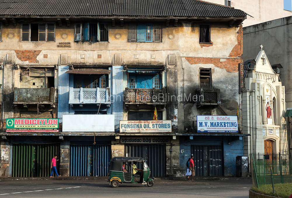 SRI LANKA. The Abdeen Building and St. Paul's Oratory.<br /> End of Wolfendhal Street at the Main Street Roundabout.