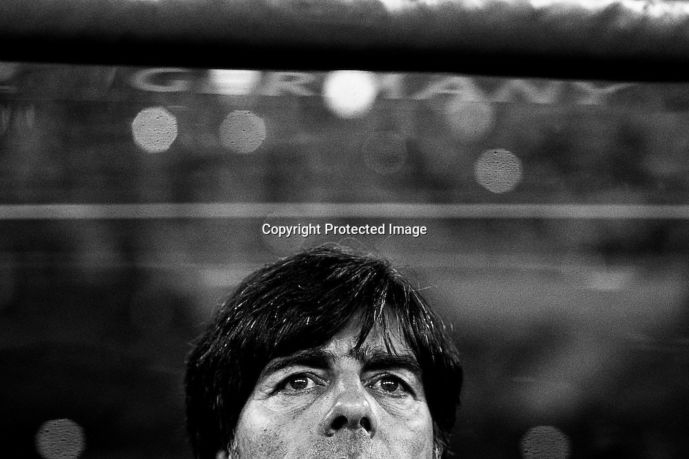 Germany's head coach Joachim Loew is seen before the FIFA World Cup 2010 semi final soccer match between Germany and Spain at the Durban stadium in Durban, South Africa, 07 July 2010.  EPA/KERIM OKTEN Please refer to www.epa.eu/downloads/FIFA-WorldCup2010-Terms-and-Conditions.pdf