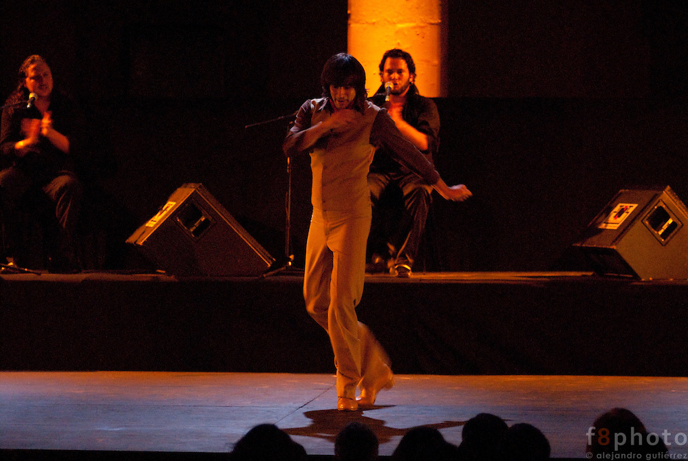 "The dancer El Junco during the Spanish Dance Gala ""Jaleo al Corazón"" in the Second International Dance Festival Ibérica Contemporánea, Querétaro, México,2009."