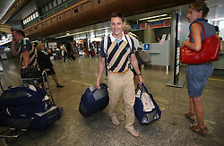 Leader of Slovenian Olympic Team Andraz Vehovar at departure to Beijing 2008 Olympic games, on July 31, 2008, at Airport Jozeta Pucnika, Brnik, Slovenia. (Photo by Vid Ponikvar / Sportal Images)/ Sportida)
