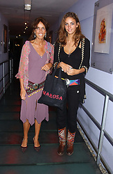 Left to right, MRS TIM HANBURY and her daughter ROSE HANBURY at a polo players party hosted by AJM International Publishing and Cartier celebrating the 21st anniversary of the Cartier International Polo held at The Collection, London SW3 on 19th July 2005.<br />