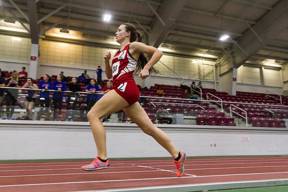 Boston University Multi-team indoor track & field, women's one mile, heat 1, Sacred Heart, 430