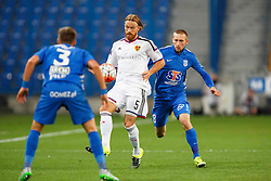 29.07.2015, INEA Stadion, Poznan, POL, UEFA CL, Lech Poznan vs FC Basel, Qualifikation, 3. Runde, Hinspiel, im Bild MICHAEL LANG SZYMON PAWLOWSKI // during the UEFA Champions League Qualifier, third round, first Leg match between Lech Posen and FC Basel at the INEA Stadion in Poznan, Poland on 2015/07/29. EXPA Pictures © 2015, PhotoCredit: EXPA/ Newspix/ Radoslaw Jozwiak<br /> <br /> *****ATTENTION - for AUT, SLO, CRO, SRB, BIH, MAZ, TUR, SUI, SWE only*****