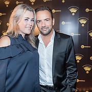 NLD/Hilversum/20180125 - Gouden RadioRing Gala 2017, Nicole Smits en partner Gerard Ekdom