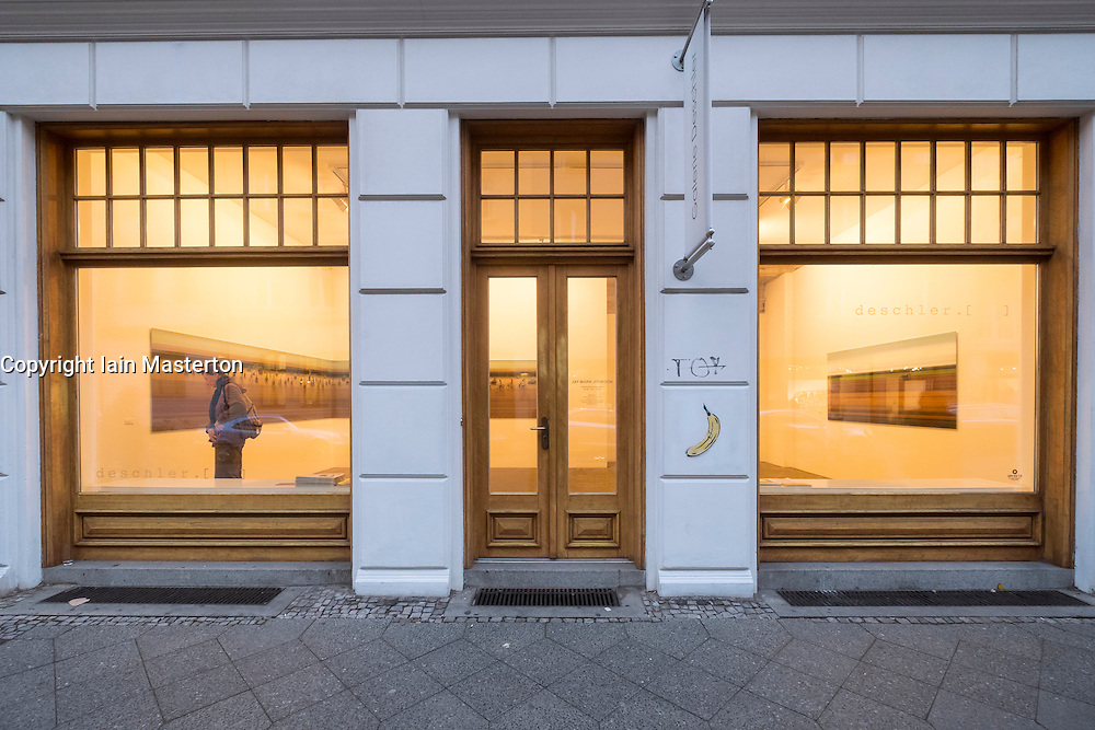 Exterior of Galerie Deschler, art gallery on Auguststrasse a street with many art galleries in Mitte Berlin Germany