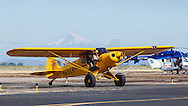Top Cub taxiing at the Airshow of the Cascades.