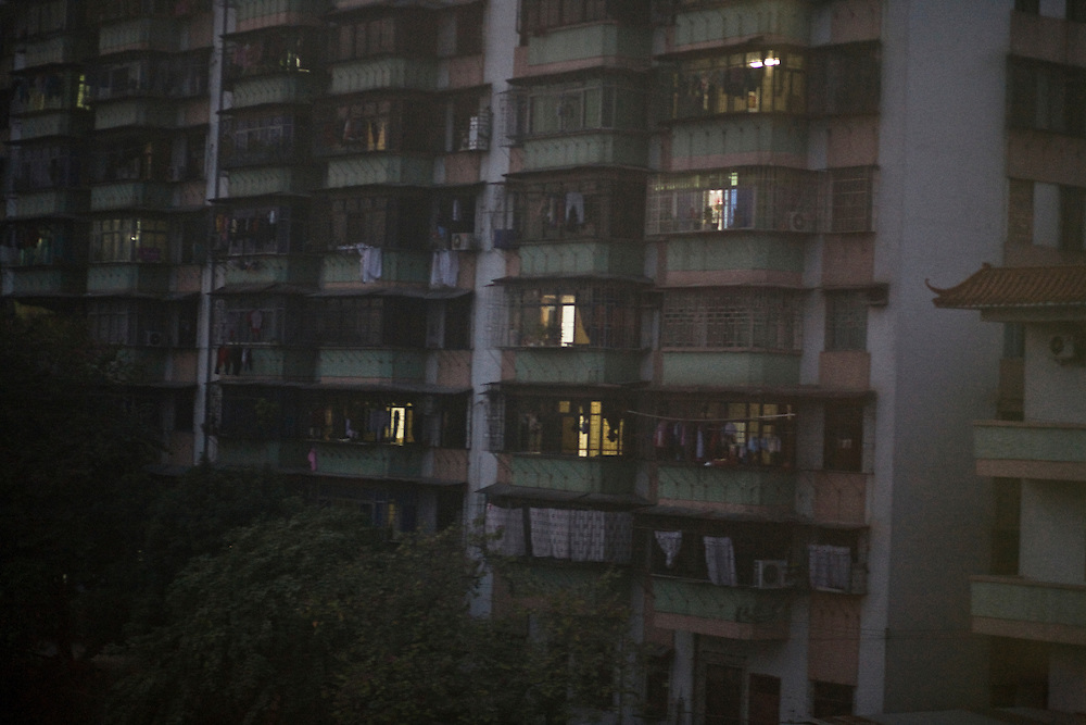 In the suburb of Changsha, seen from the window of the train to Beijing. Feb 2010