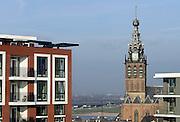 Nederland, Nijmegen, 13-12-2013Het vernieuwde plein 44 is klaar. De eerste bewoners en winkels nemen hun intrek. Een nieuwe blik op de Stevenskerk en Stevenstoren is mogelijk.Foto: Flip Franssen/Hollandse Hoogte