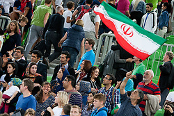 Fans of team Iran after basketball match in the context of Telemach tournament between National Teams of Slovenia and Iran on August 21, 2014 in SRC Stozice, Ljubljana, Slovenia. Photo by Urban Urbanc / Sportida.com