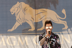Long Beach, CA - August 22nd, 2015 - Adam Lambert performs at the ASICS World Series of Beach Volleyball tournament in Long Beach, CA. Photo by Wally Nell/FIVB