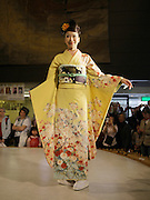 Japan, Honshu, Kobe A Kimono Fashion Show