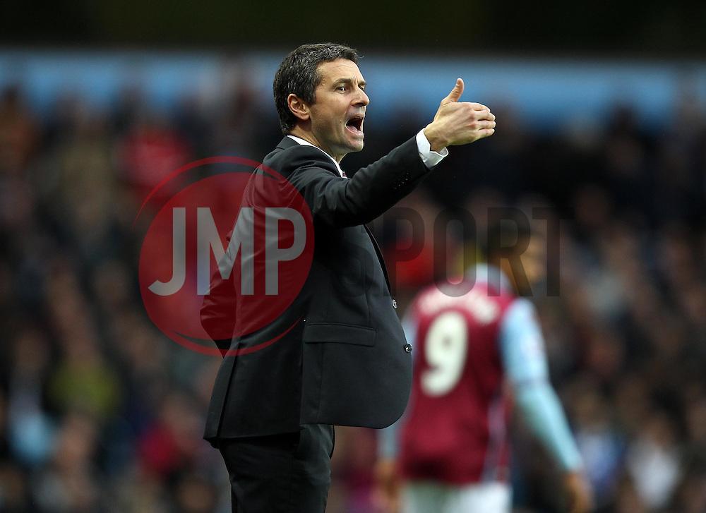 Aston Villa Manager Remi Garde gestures - Mandatory byline: Robbie Stephenson/JMP - 07966 386802 - 08/11/2015 - FOOTBALL - Villa Park - Birmingham, England - Aston Villa v Manchester City - Barclays Premier League