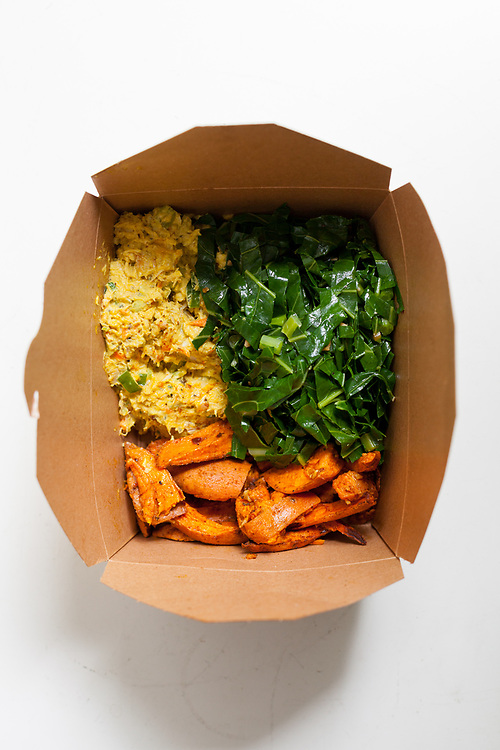 Curry Chicken Salad & Veggies from Flatbush Food Co-op ($7.99) - WFH: Sore Throat