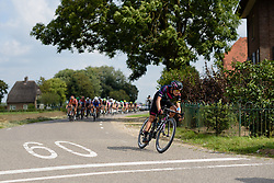Barbara Guarischi (CANYON//SRAM Racing) well positioned as the peloton approach a tricky junction at the 116 km Stage 5 of the Boels Ladies Tour 2016 on 3rd September 2016 in Tiel, Netherlands. (Photo by Sean Robinson/Velofocus).