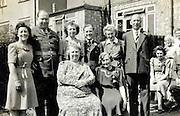 vintage group portrait of family England