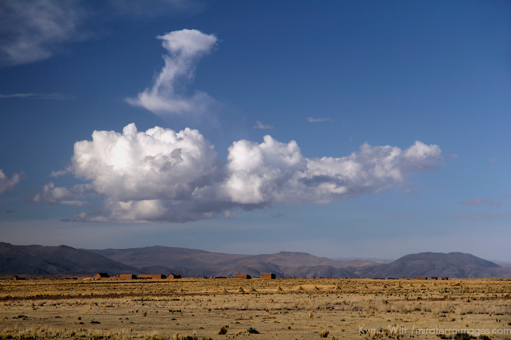 South America, Peru, Andes. Clouds over the high plateau of the Andes.