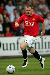 WAYNE ROONEY.MANCHESTER UNITED FC.DUNFERMLINE V MANCHESTER UTD.EAST END PARK, DUNFERMLINE, SCOTLAND.08 August 2007.DIQ64284..  .WARNING! This Photograph May Only Be Used For Newspaper And/Or Magazine Editorial Purposes..May Not Be Used For, Internet/Online Usage Nor For Publications Involving 1 player, 1 Club Or 1 Competition,.Without Written Authorisation From Football DataCo Ltd..For Any Queries, Please Contact Football DataCo Ltd on +44 (0) 207 864 9121
