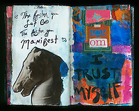 Painted Artist Visual Journal with original writings.
