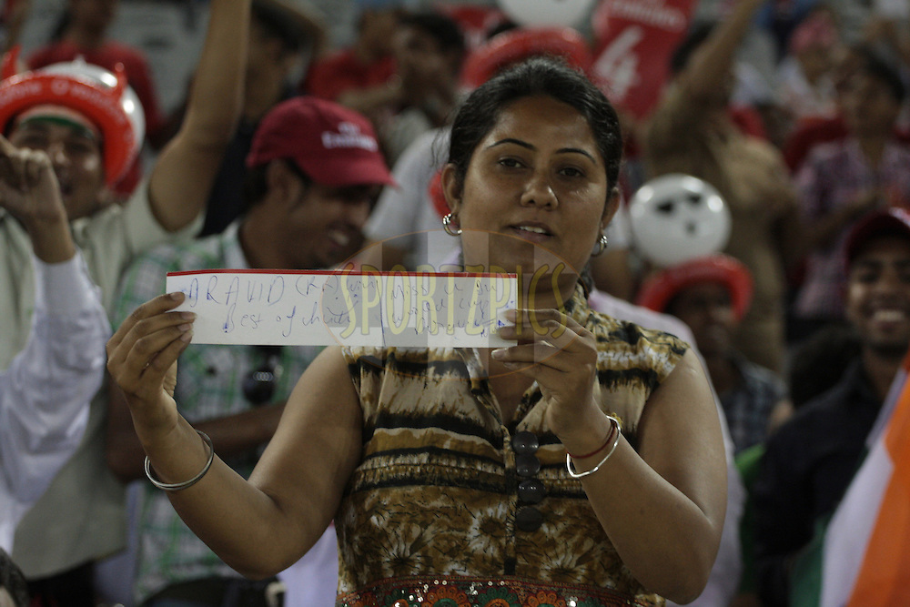 A fan during match 23 of the Indian Premier League ( IPL ) Season 4 between the Kings XI Punjab and the Rajasthan Royal held at the PCA stadium in Mohali, Chandigarh, India on the 21st April 2011..Photo by Anil Dayal/BCCI/SPORTZPICS