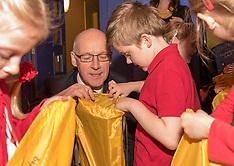 John Swinney gives out gift packs to schoolchildren | Edinburgh | 10 November 2016