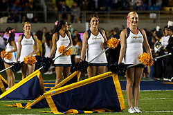 BERKELEY, CA - OCTOBER 06: California Golden Bears cheerleaders on the field before the game against the UCLA Bruins at California Memorial Stadium on October 6, 2012 in Berkeley, California. The California Golden Bears defeated the UCLA Bruins 43-17. (Photo by Jason O. Watson/Getty Images) *** Local Caption ***