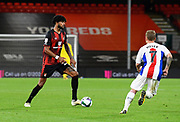 Philip Billing (29) of AFC Bournemouth is closed down by Max Meyer (7) of Crystal Palace during the EFL Cup match between Bournemouth and Crystal Palace at the Vitality Stadium, Bournemouth, England on 15 September 2020.