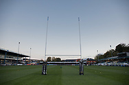 A general view of The Brewery Field, home of Bridgend Ravens<br /> <br /> Photographer Simon King/Replay Images<br /> <br /> Guinness PRO14 Round 7 - Ospreys v Connacht - Friday 26th October 2018 - The Brewery Field - Bridgend<br /> <br /> World Copyright &copy; Replay Images . All rights reserved. info@replayimages.co.uk - http://replayimages.co.uk