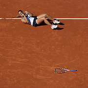 Dominika Cibulkova, Slovakia, during her quarter final win over Maria Sharapova, Russia in the Women's  Quarter Final match at the French Open Tennis Tournament at Roland Garros, Paris, France on Tuesday, June 2, 2009. Photo Tim Clayton.