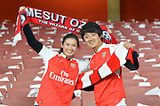 Arsenal fans during the Champions League  Group F match between Arsenal and Bayern Munich at the Emirates Stadium, London, England on 20 October 2015. Photo by Alan Franklin.