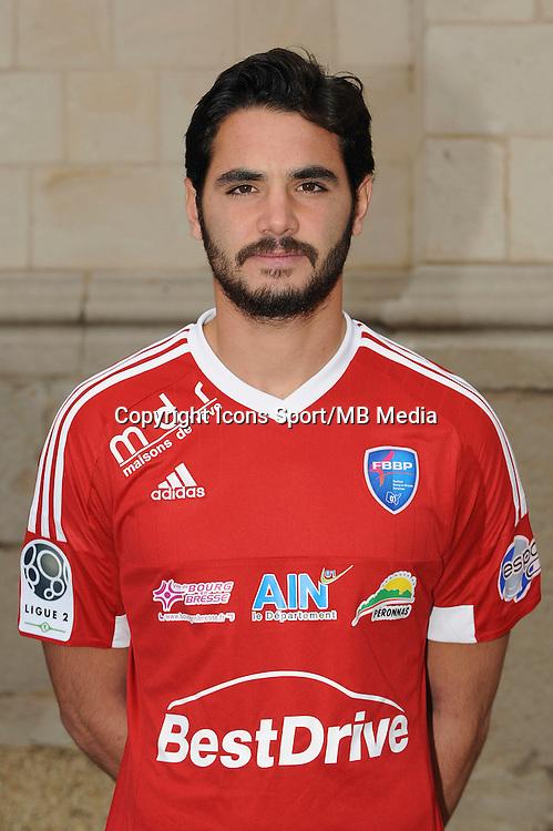 Julien FABRI - 26.09.2015 - Photo officielle Bourg en Bresse Peronnas - Ligue 2<br /> Photo : Jean Paul Thomas / Icon Sport