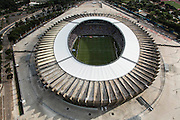 Belo Horizonte_MG, Brasil.<br /> <br /> Vista aerea do jogo de inauguracao entre Cruzeiro e Atletico MG no estadio Governador Magalhaes Pinto, Mineirao em Belo Horizonte, Minas Gerais. <br /> <br /> Aerial view  of the inauguration match between Cruzeiro and Atletico MG in  Governador Magalhaes Pinto stadium, Mineirao, in Belo Horizonte, Minas Gerais.<br /> <br /> Foto: LEO RUMOND / NITRO