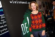 AMSTERDAM - In het ketelhuis is de perspresentatie gehouden van het nieuwe seizoen 'Wie Is De Mol 2014'. Met hier op de foto  Aaf Brandt Corstius. FOTO LEVIN DEN BOER - PERSFOTO.NU