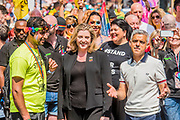 Sadiq Khan and Penny Mordant start the parade - The London Pride parade and event in Trafalgar Square.
