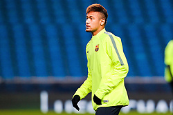 Neymar of FC Barcelona trains ahead of the UEFA Champions League tie against Manchester City - Photo mandatory by-line: Matt McNulty/JMP - Mobile: 07966 386802 - 23/02/2015 - SPORT - Football - Manchester - Etihad Stadium