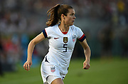 United Stated defender Kelley O'Hara (5) in an international friendly women's soccer match, Saturday, Aug. 3, 2019,  in Pasadena, Calif., The U.S. defeated Ireland 3-0. (Dylan Stewart/Image of Sport)
