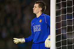 WARRINGTON, ENGLAND - Tuesday, February 26, 2008: Manchester United's goalkeeper Tom Heaton during the FA Premiership Reserves League (Northern Division) match against Liverpool at the Halliwell Jones Stadium. (Photo by David Rawcliffe/Propaganda)