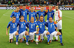 Football - soccer: FIFA World Cup South Africa 2010, Italy (ITA) - Paraguay (PRY), LA FORMAZIONE DELL' ITALIA