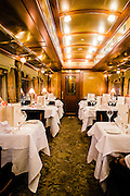 Dining car on the Eastern & Oriental Train
