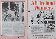 All Ireland Senior Hurling Championship Final, .06.09.1987, 09.06.1987, 6th September 1987, .Kilkenny v Galway, .Galway 1-12, Kilkenny 0-9,.06091987AISHCF, .Senior Kilkenny v Galway,.Minor Tipperary v Offaly,..The Irish Press, Evening Press, The Sunday Press,