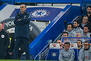 Maurizio Sarri Head Coach of Chelsea FC during the Premier League match between Chelsea and West Ham United at Stamford Bridge, London, England on 8 April 2019.