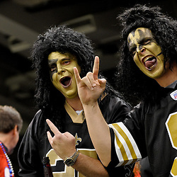 2009 November 30:  New Orleans Saints fans in the stands before kickoff of a 38-17 win by the New Orleans Saints over the New England Patriots at the Louisiana Superdome in New Orleans, Louisiana.