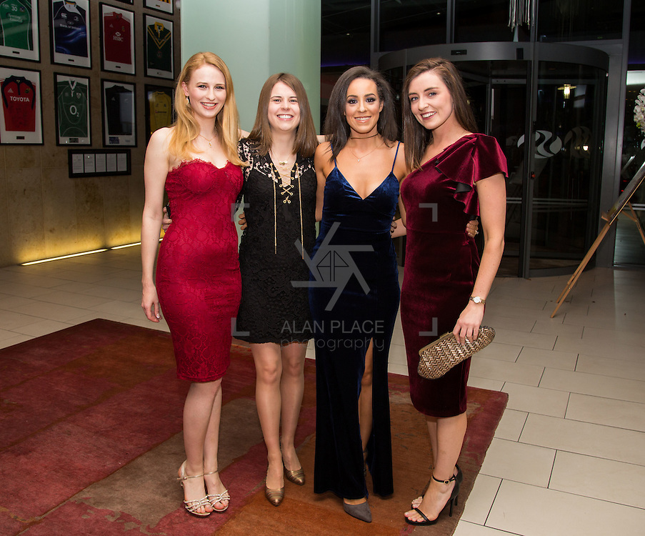 22.10.2016                 <br /> Society of Young Solicitors Annual Conference Gala Ball, Strand Hotel Limerick. Attending the event were, Aoife Kelly Desmond, Louise Johnston, Mairead Corcoran and Eimear O'Hanrahan. Picture: Alan Place