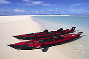 Kayak, Maina Island, Aitutaki, Cook Islands<br />