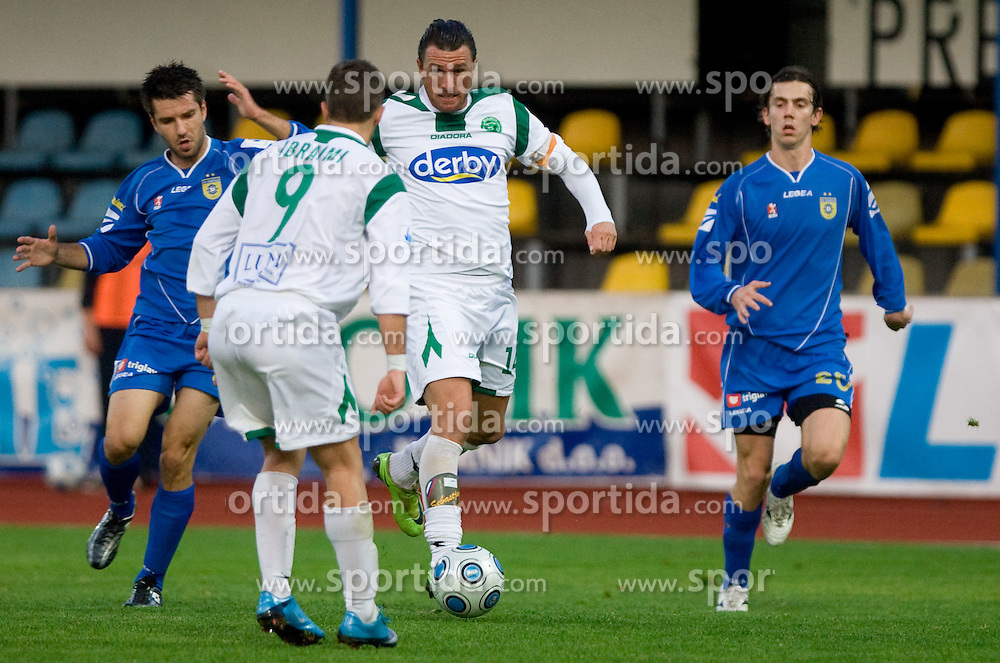 Sebastjan Cimirotic of Olimpija  at football match of 15th Round of Slovenian Prva Liga between NK Domzale vs NK Olimpija, on October 28, 2009, in Sports park Domzale, Domzale, Slovenia.   (Photo by Vid Ponikvar / Sportida)