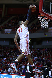 05 January 2013:  Jackie Carmichael prepares a slam during an NCAA Missouri Valley Conference (MVC) mens basketball game between the Northern Iowa Panthers and the Illinois State Redbirds in Redbird Arena, Normal IL
