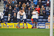 Preston North End Striker Eoin Doyle celebrates making it 1-1 during the Sky Bet Championship match between Preston North End and Queens Park Rangers at Deepdale, Preston, England on 19 March 2016. Photo by Pete Burns.
